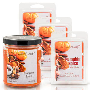 4 pack- Pumpkin Spice Candle & Wax Melts-